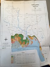 Soil salinity map coastal zone Bangladesh