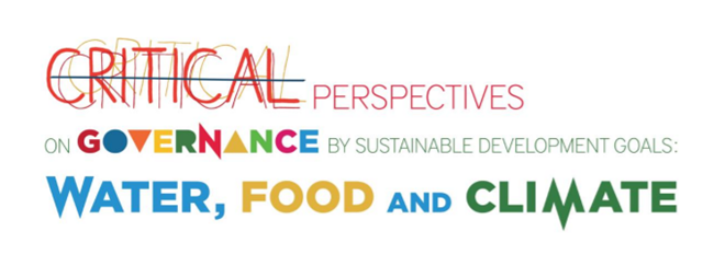 Critical perspectives on governance by sustainable development goals